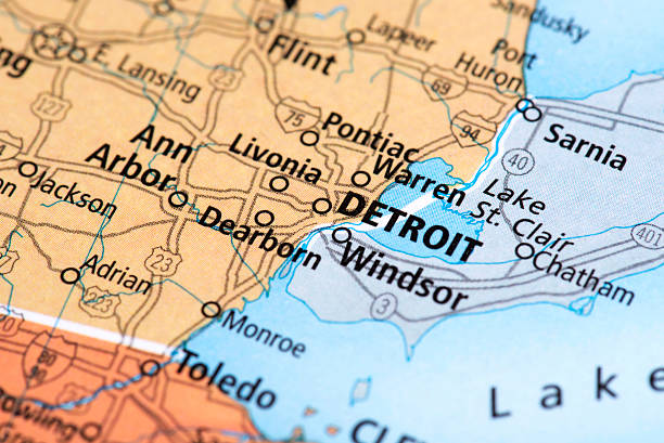 Michigan Map Pictures Images And Stock Photos IStock - Michigan in usa map