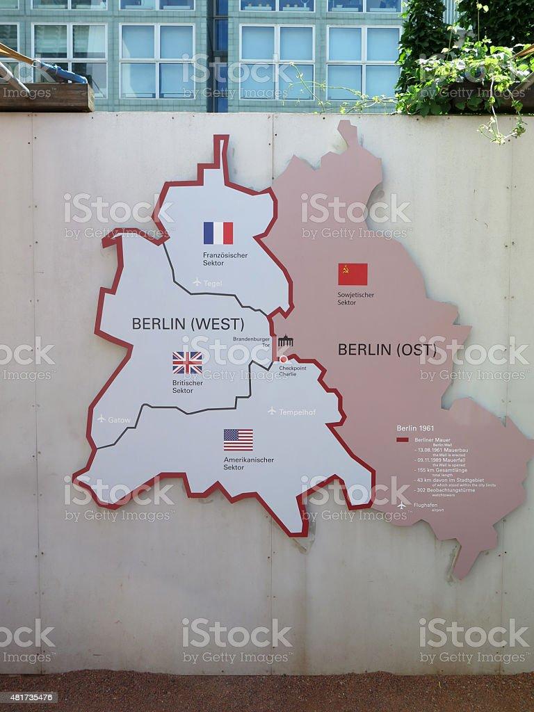 Karte von Ost und West Berlin – Foto