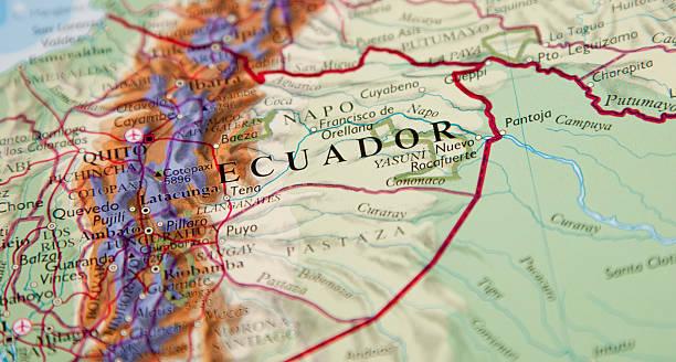 에콰도르 지역의 지도 - 에콰도르 뉴스 사진 이미지