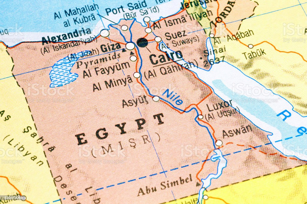Map of Egypt stock photo