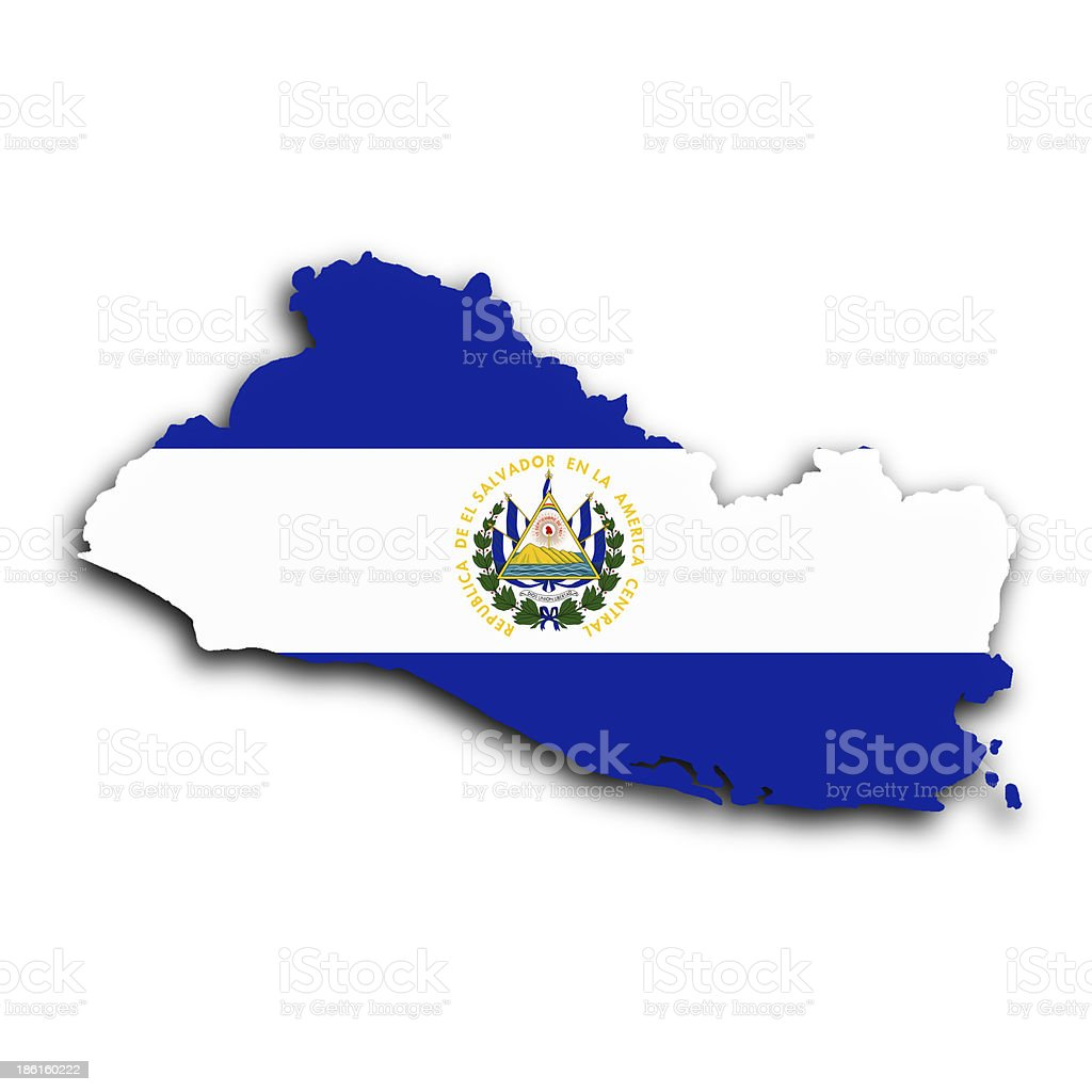 Map of El Salvador stock photo