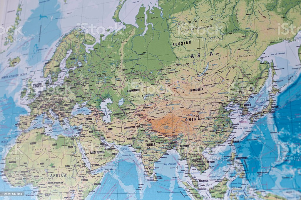 Karte Europa Asien.Karte Von Europa Asien Und Nordafrika Stockfoto Und Mehr