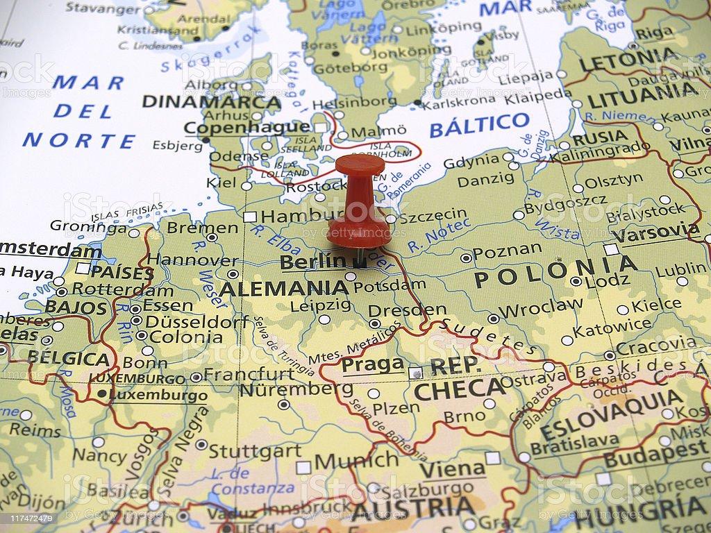 Cartina Geografica Europa Budapest.Mappa Di Europa Berlino Germania Fotografie Stock E Altre