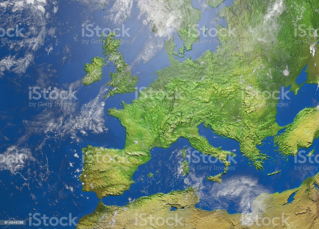 map of europe royalty-free stock photo