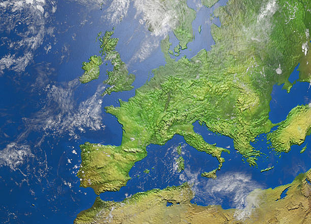 map of europe - europe map stock photos and pictures