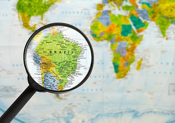 Mapa de Federativa do Brasil - foto de acervo