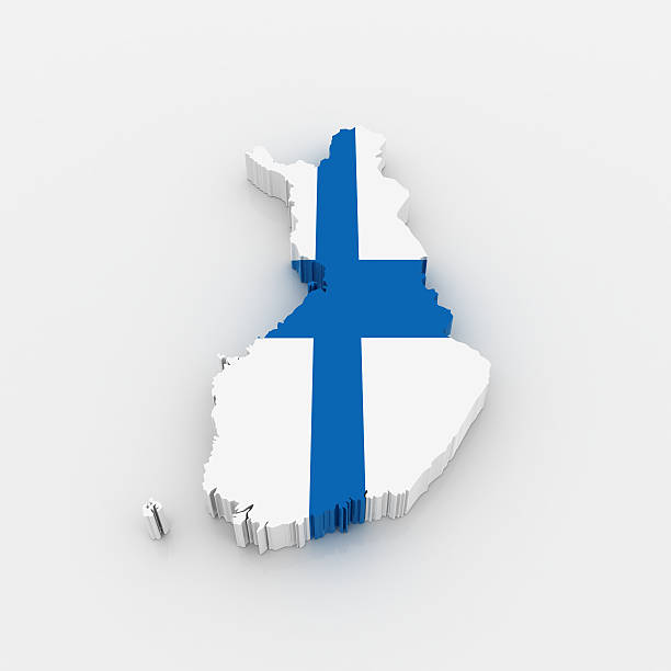 Map of Finland stock photo