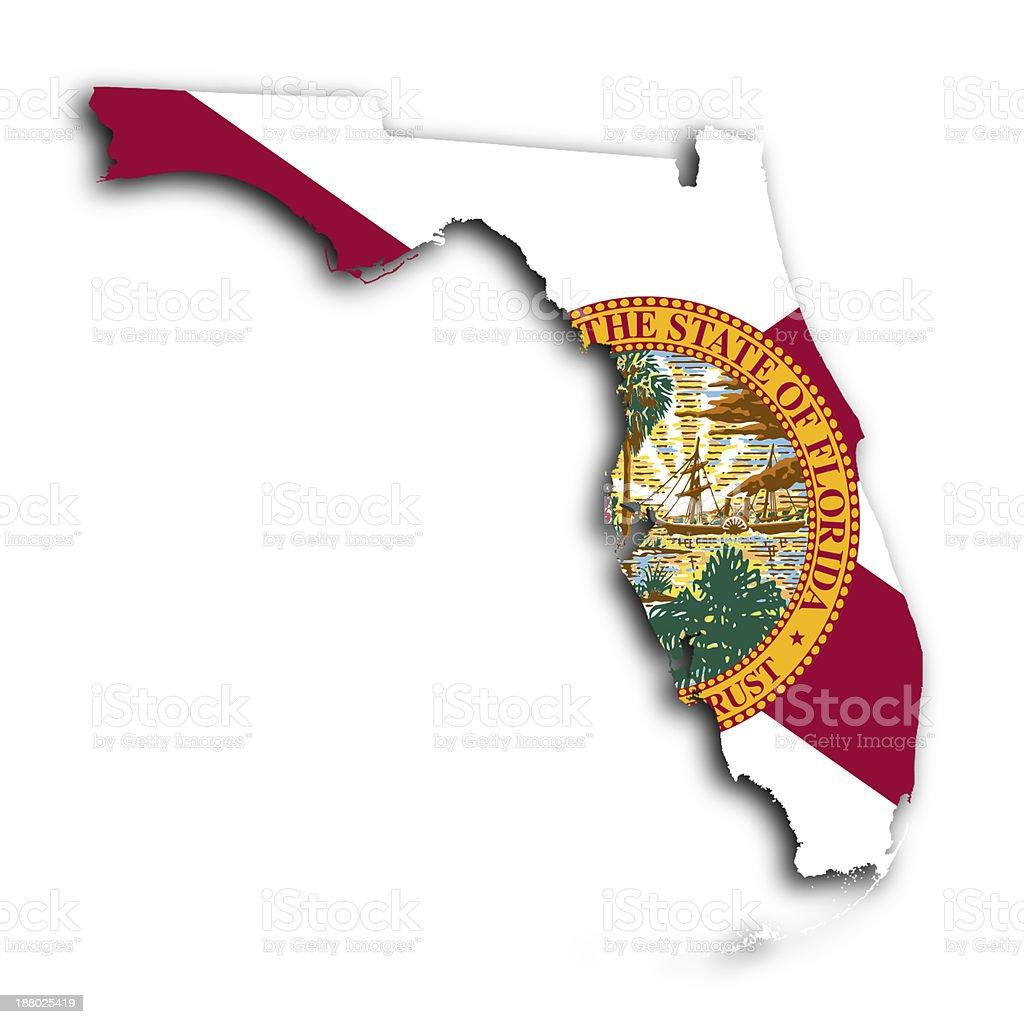 Map of Florida stock photo
