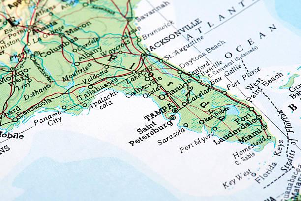 Florida Map Pictures Images And Stock Photos IStock - Florida usa map