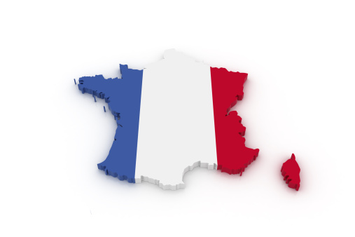 Map Of France Stock Photo - Download Image Now