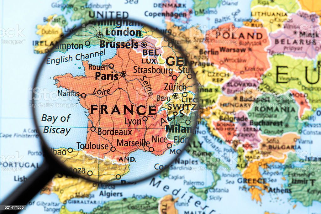 Geographical Map Of France.Map Of France Stock Photo Download Image Now Istock