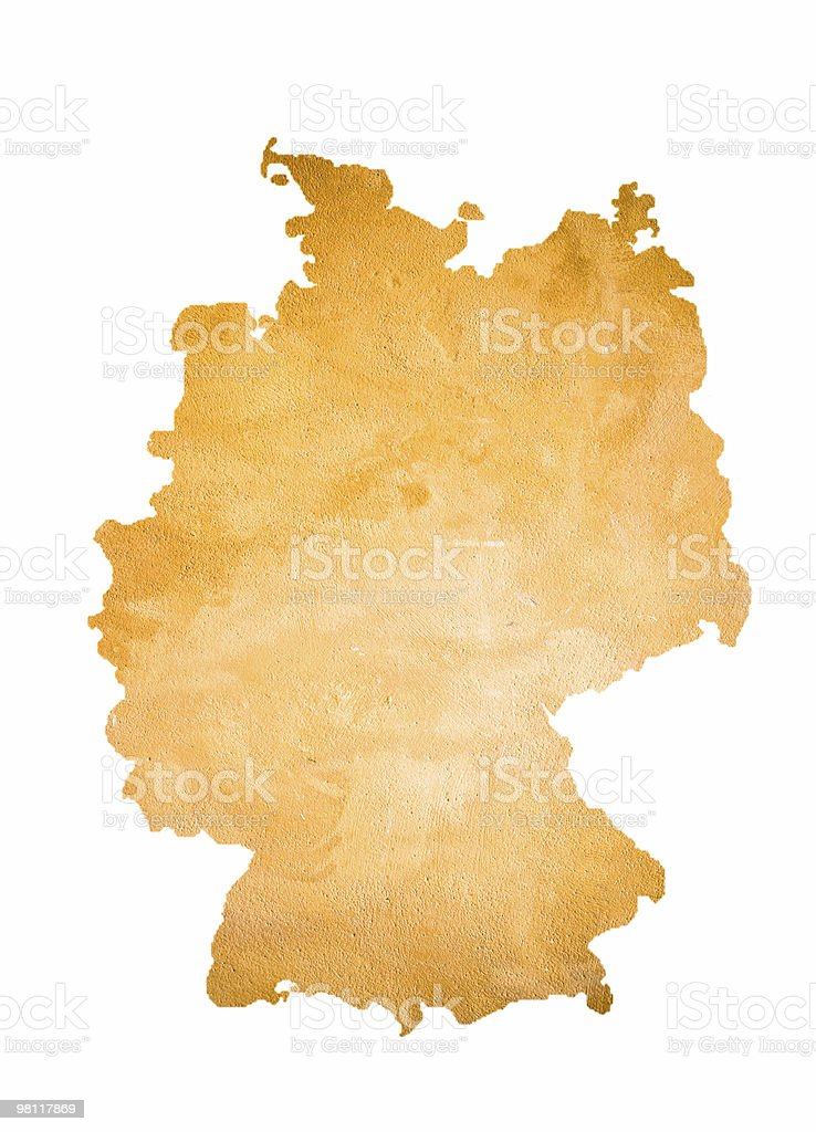 Map of Germany isolated on white royalty-free stock photo