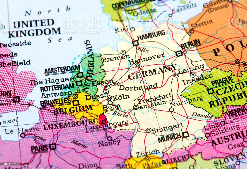 Map Of Germany And Amsterdam.Map Of Germany Stock Photo More Pictures Of Amsterdam Istock