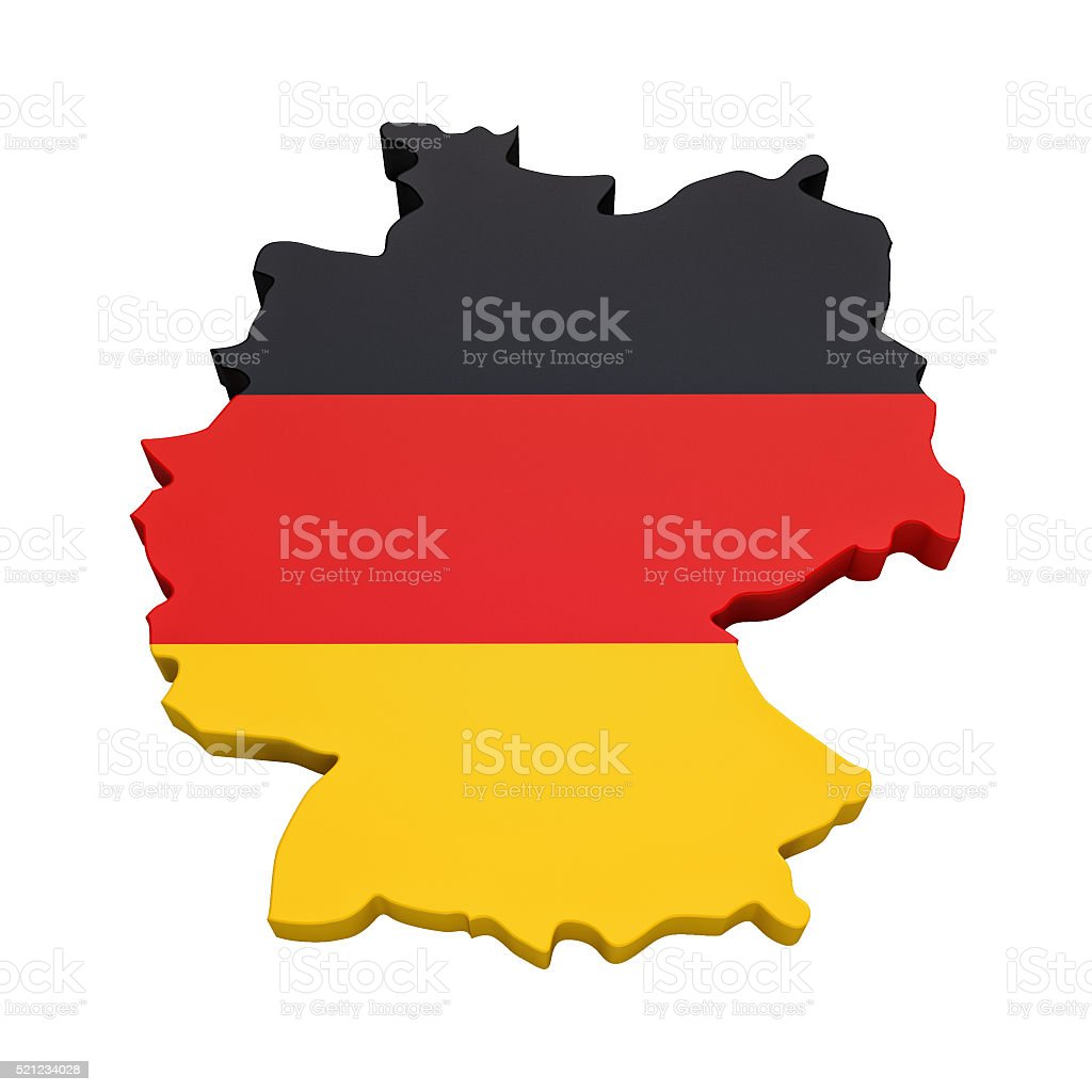 Map of Germany stock photo