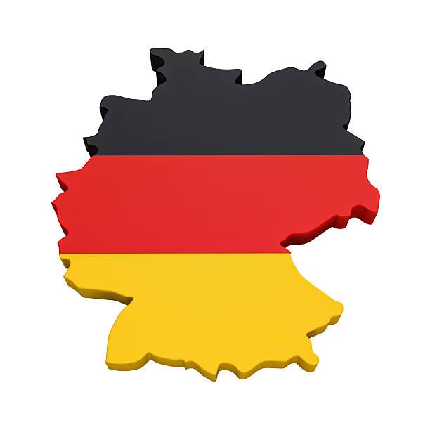 carte de l'allemagne - drapeau allemand photos et images de collection
