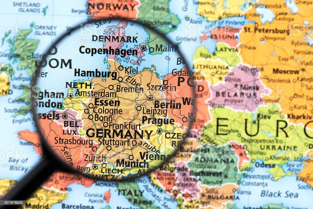 La Germania Cartina Geografica.Mappa Di Germania Fotografie Stock E Altre Immagini Di Berlino Germania