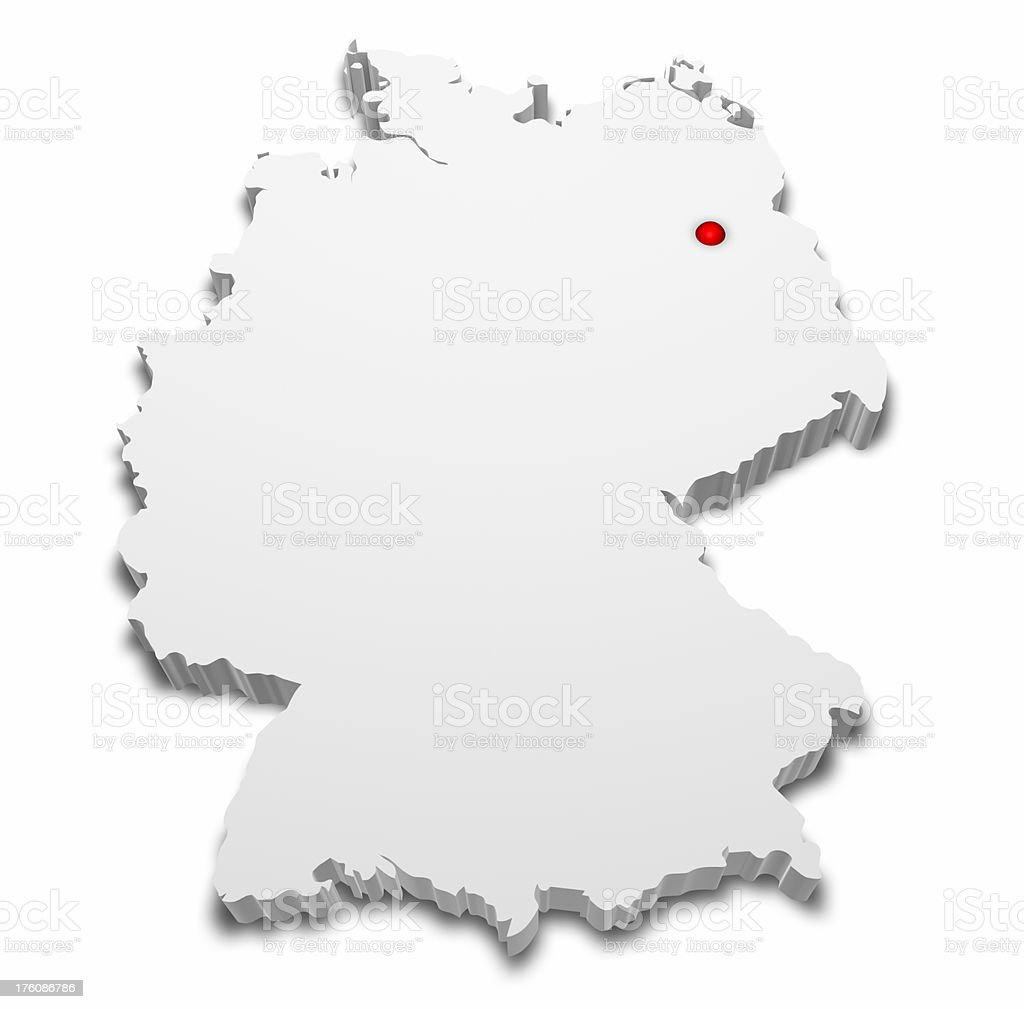 Capital Of Germany Map.3d Map Of Germany With Capital City Marked Stock Photo Download