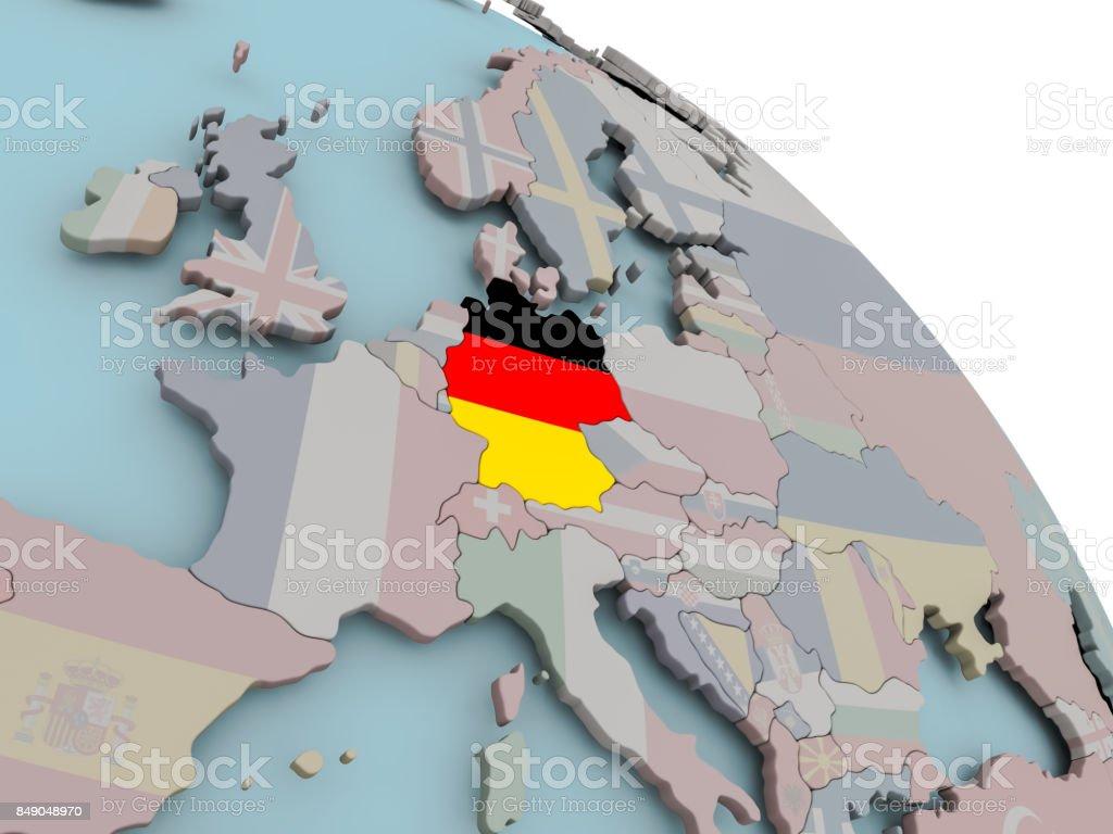 Karte von Deutschland mit Flagge  – Foto
