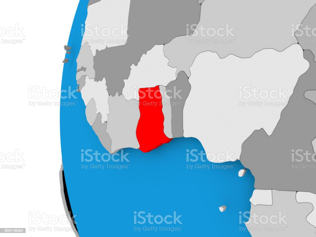 Map Of Ghana On Political Globe Stock Photo - Download Image ... Ghana On Map on mauritania on map, nepal on map, guatemala on map, west africa map, borneo on map, egypt on map, belize on map, mali on map, madagascar on map, liberia on map, hungary on map, brazil on map, cuba on map, benin on map, zimbabwe on map, italy on map, indonesia on map, the gambia on map, nigeria on map, thailand on map,