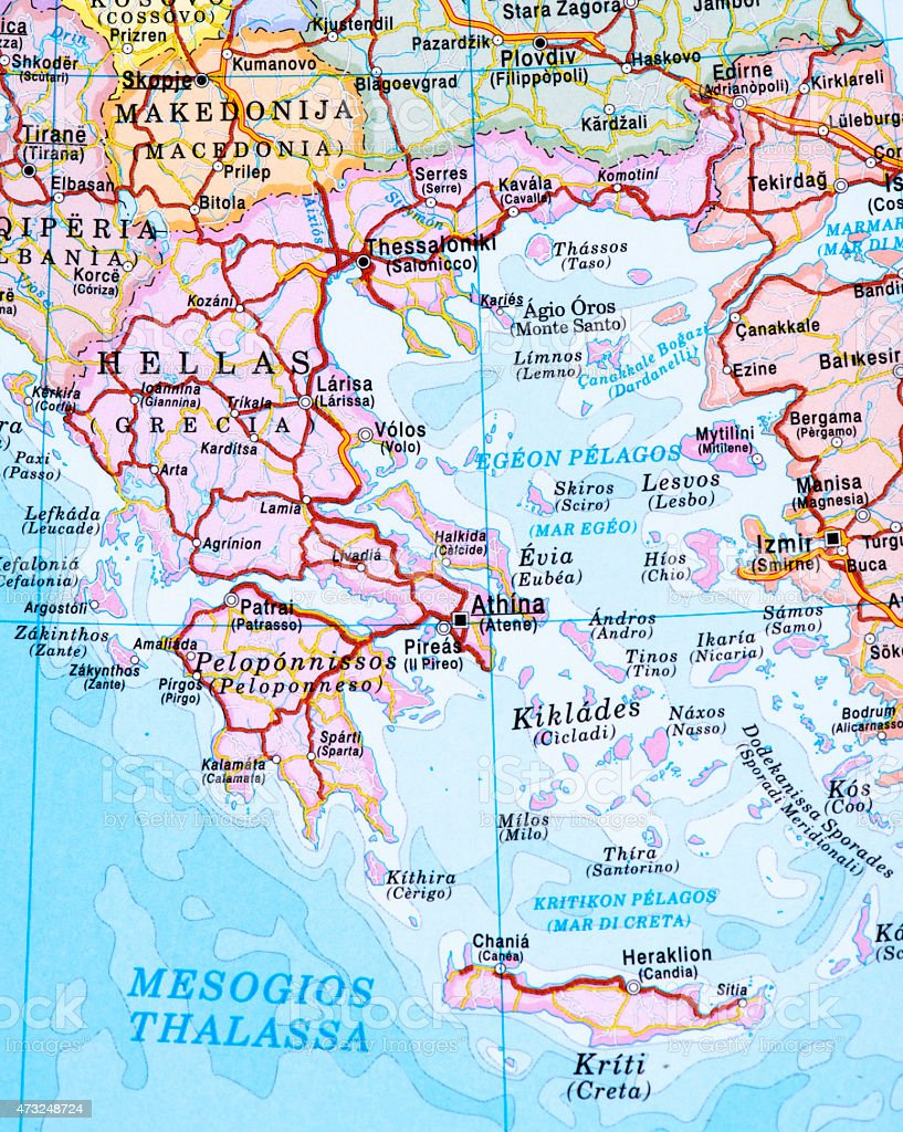Map Of Greece Stock Photo More Pictures of 2015 iStock