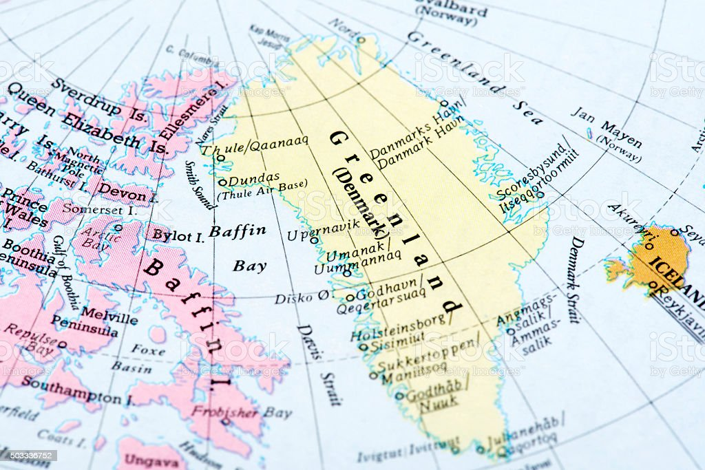 Map Of Greenland Stock Photo IStock - Map of greenland