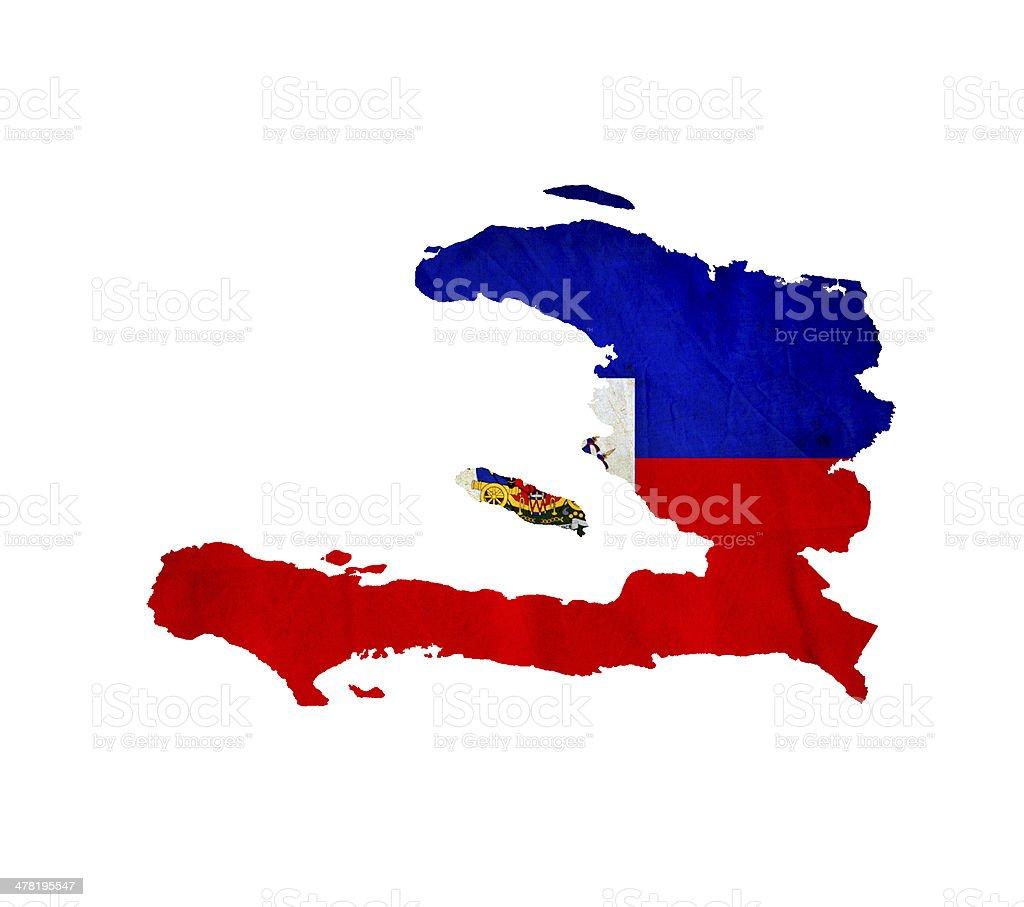 Map of Haiti isolated stock photo