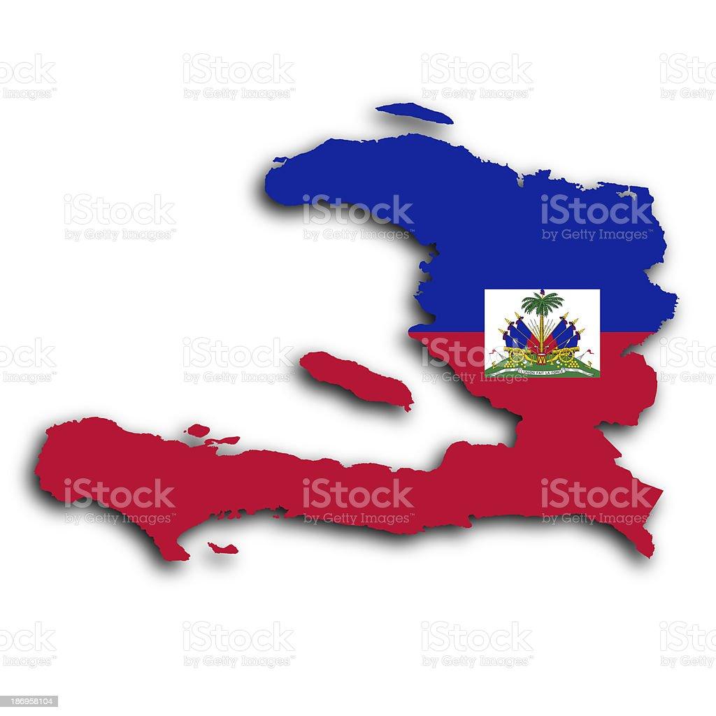 Map of Haiti stock photo