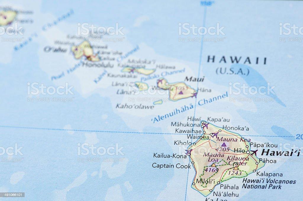 Map Of Hawaii stock photo