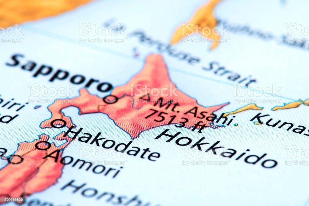 Map Of Hokkaido Japan Stock Photo Download Image Now Istock