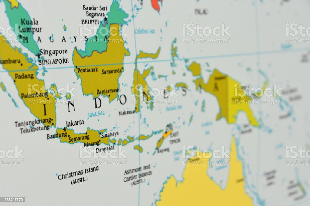 Map Of Indonesia Stock Photo More Pictures of Brunei iStock