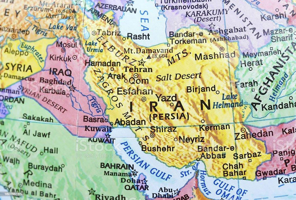 Map of Iran royalty-free stock photo