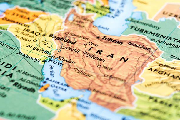 karte von iran - iranische stock-fotos und bilder