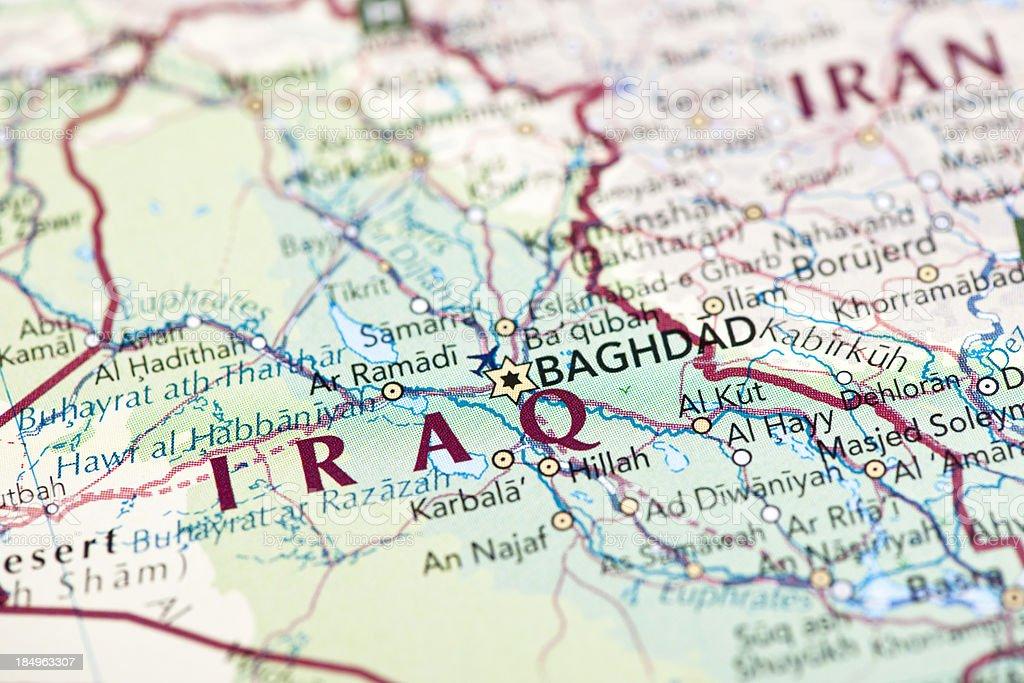 Mapa de Irak - foto de stock