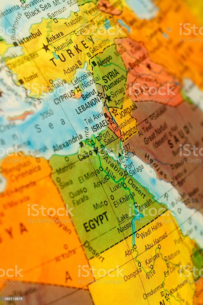 Map Israel And Lebanon Stock Download Image Now