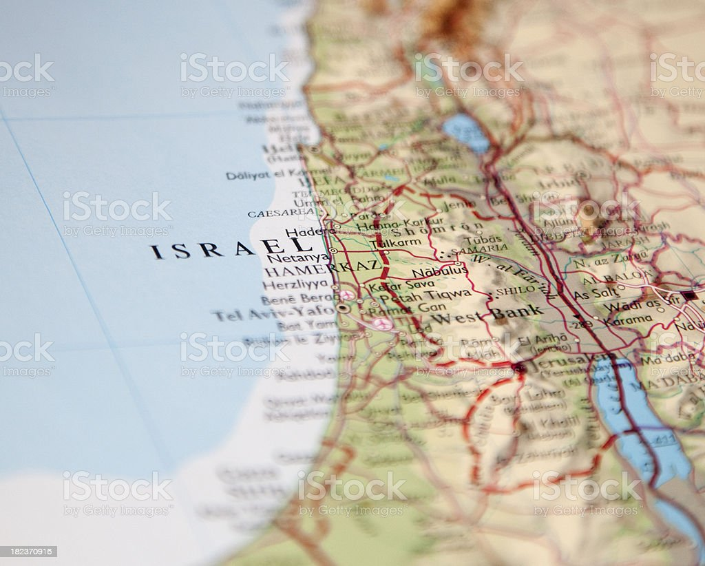 map of israel royalty-free stock photo