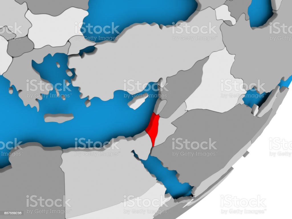 Map Of Asia Israel.Map Of Israel Stock Photo More Pictures Of Asia Istock