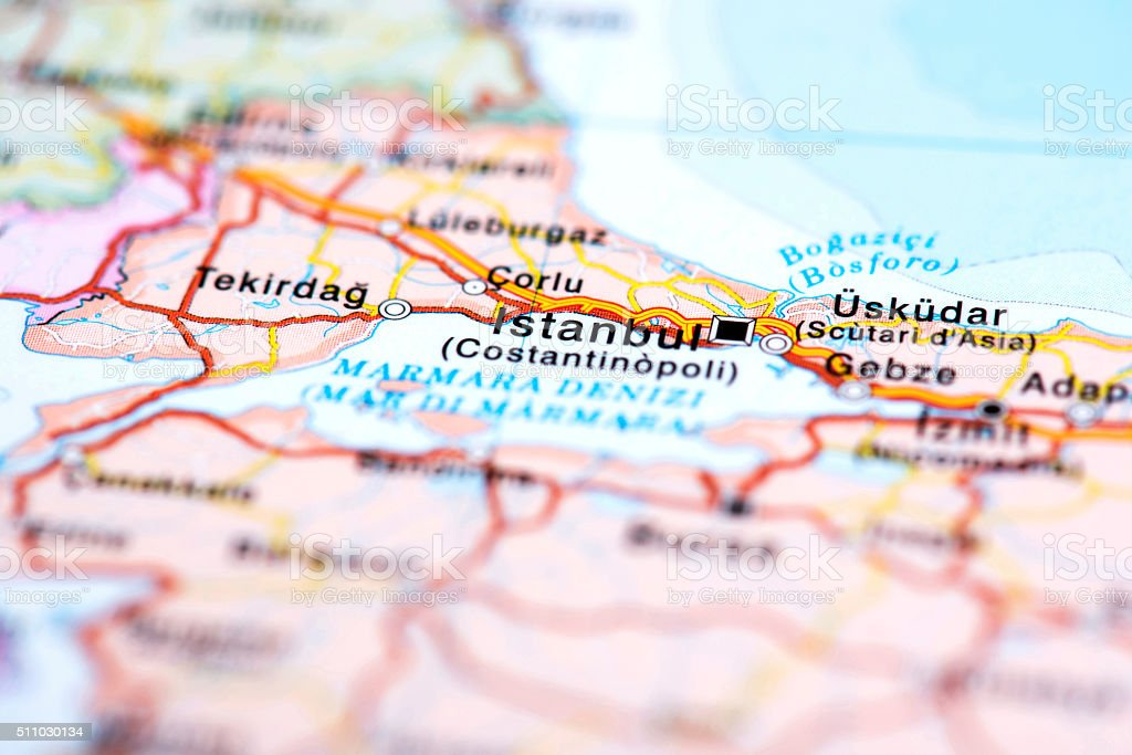 Map Of Istanbul Turkey Stock Photo & More Pictures of Black Sea   iStock