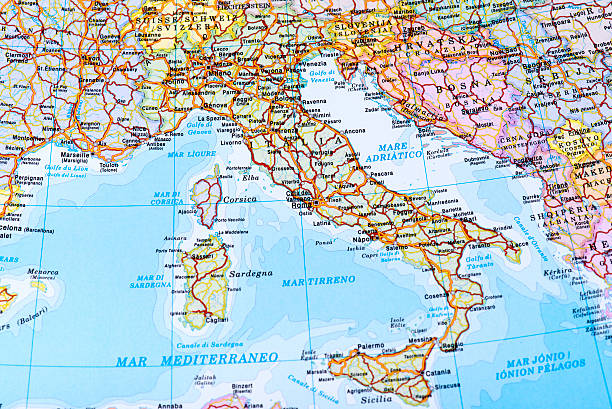 map of italy - italy map stock photos and pictures