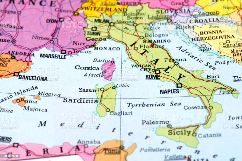 Map of italy stock photo more pictures of 2015 istock globe navigational equipment map navigational equipment world map barcelona spain gumiabroncs Gallery