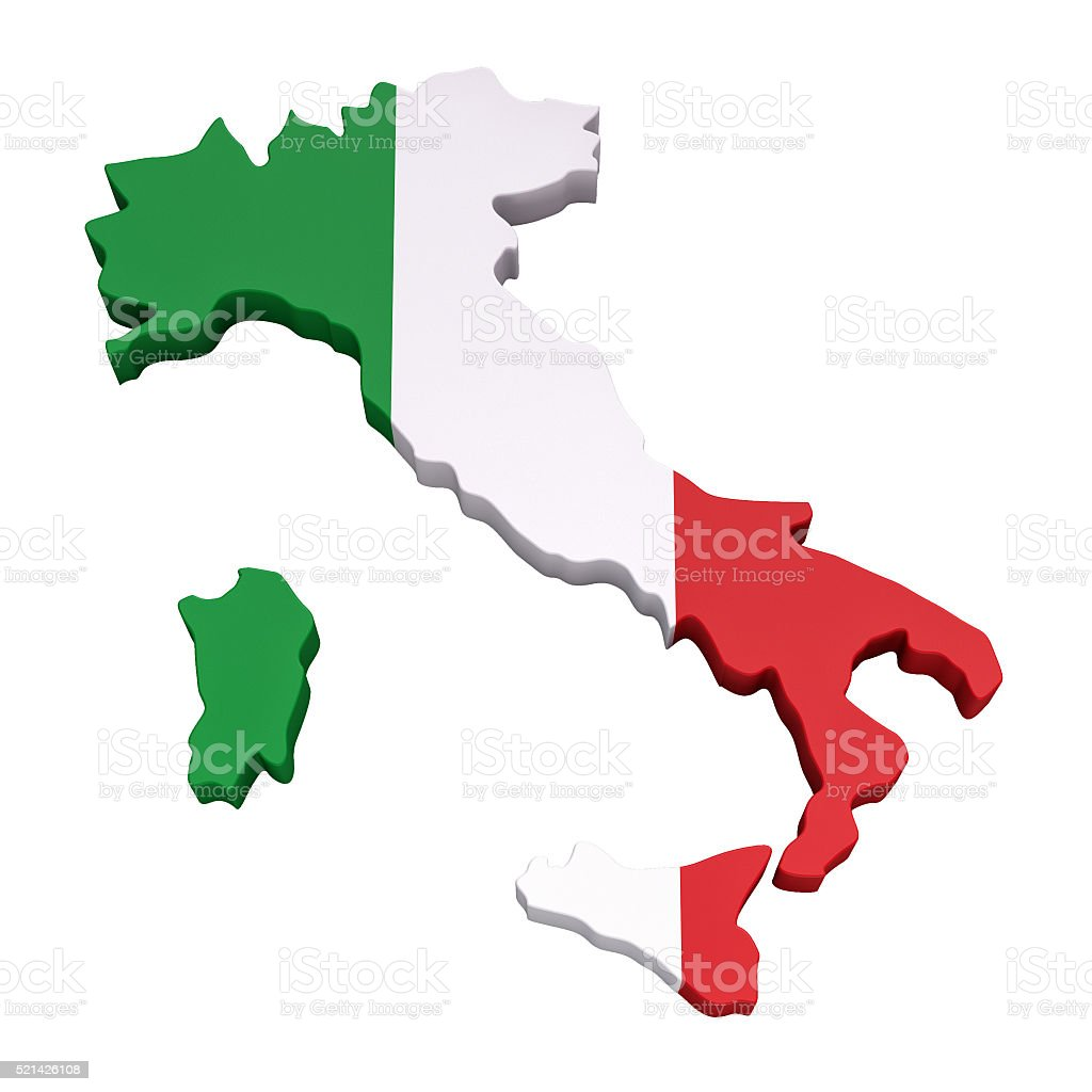 Map of Italy - Stock image stock photo