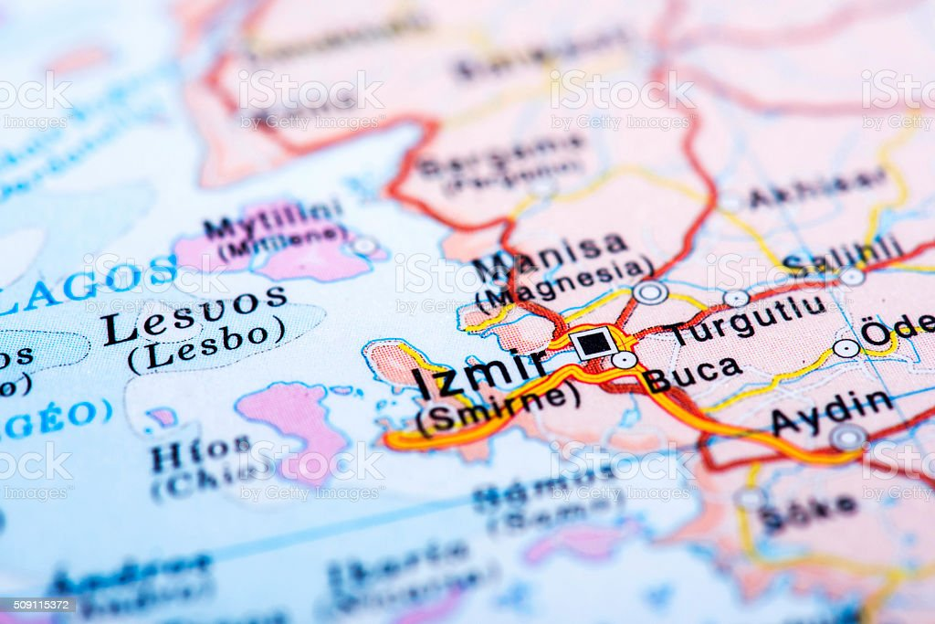Map Of Izmir Turkey Stock Photo Download Image Now Istock