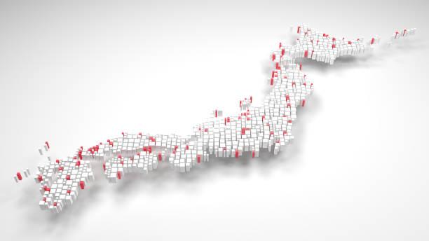日本 - アジア - 地図 - 日本 地図 ストックフォトと画像