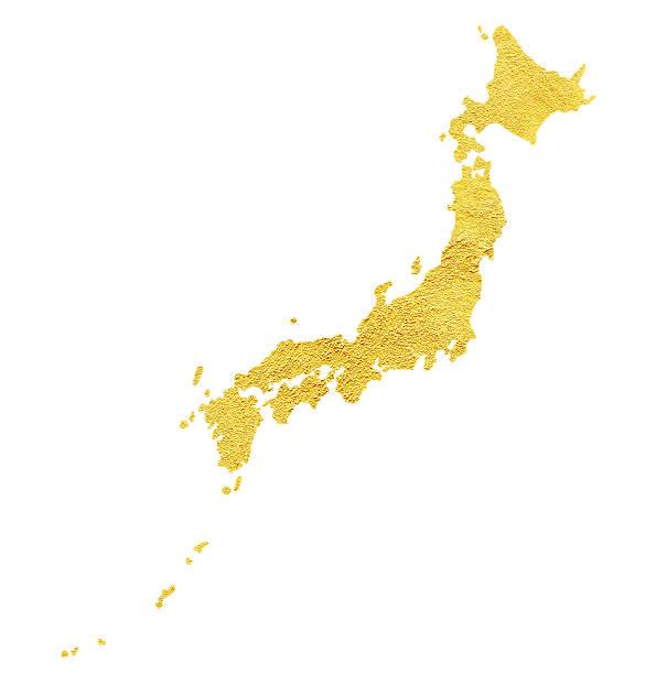 マップ日本の白で分離 - 日本 地図 ストックフォトと画像