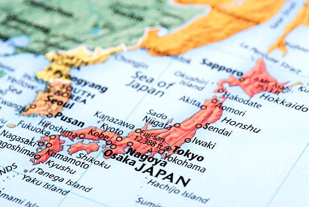 map 日本の - 日本 地図 ストックフォトと画像