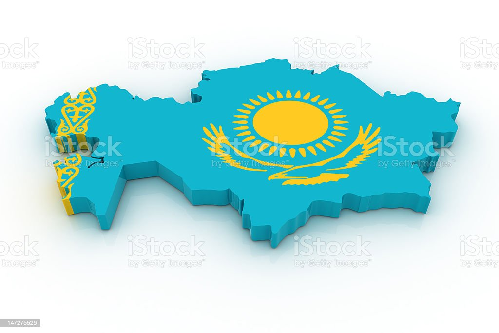 Map of Kazahstan royalty-free stock photo