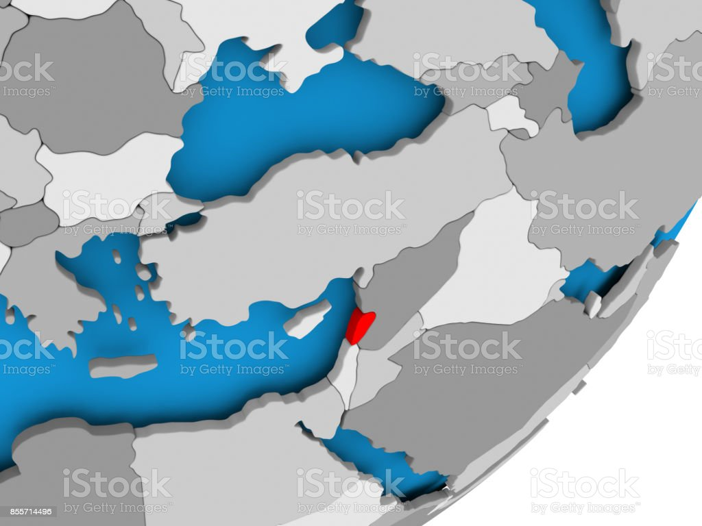 Map of Lebanon stock photo