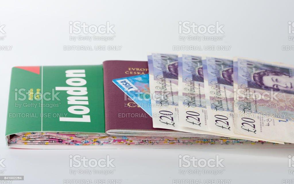 Carte Visa Angleterre.Photo Libre De Droit De Carte De Londres Passeport Carte Visa Et