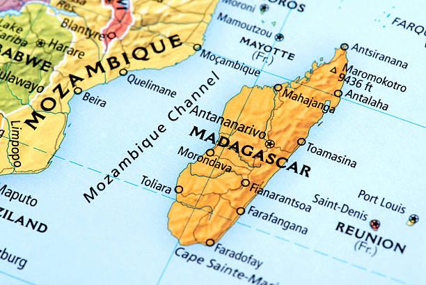 Map of Madagascar stock photo