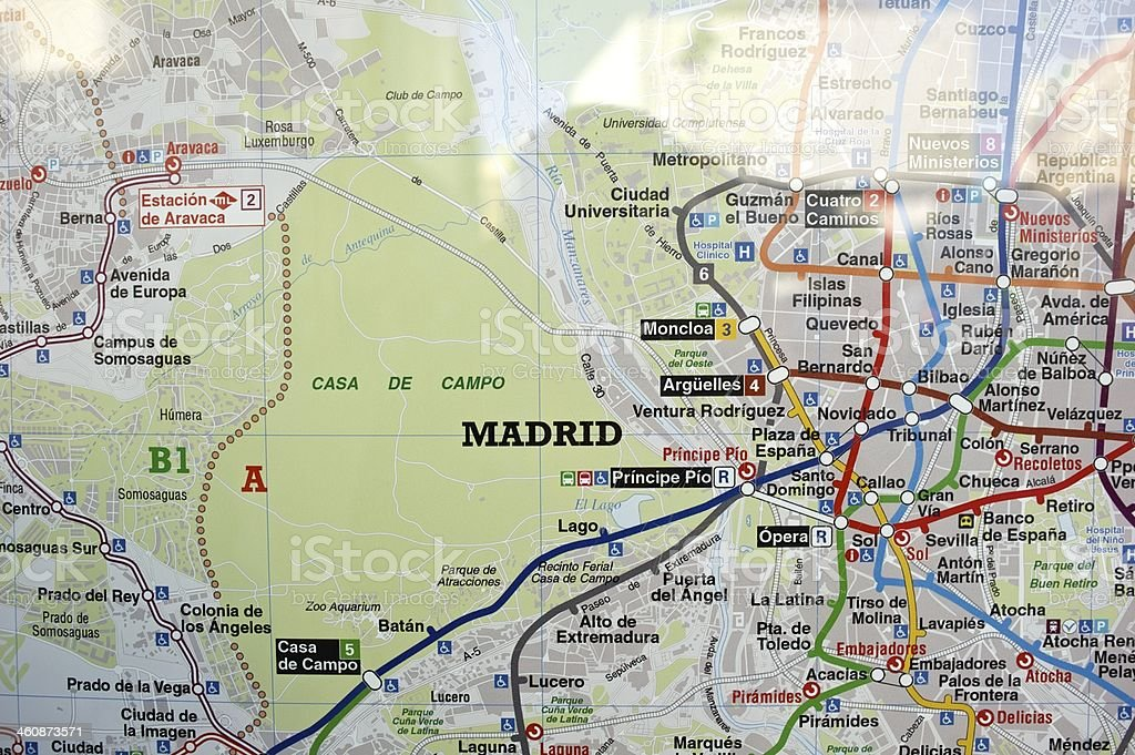 Map of Madrid royalty-free stock photo