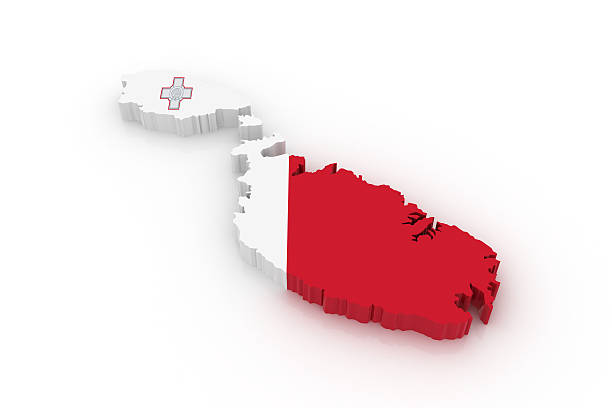 Map of Malta stock photo